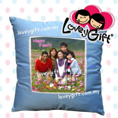 Photo Cushion - Blue