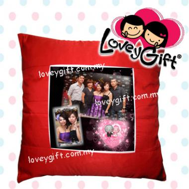 Photo Cushion - Red