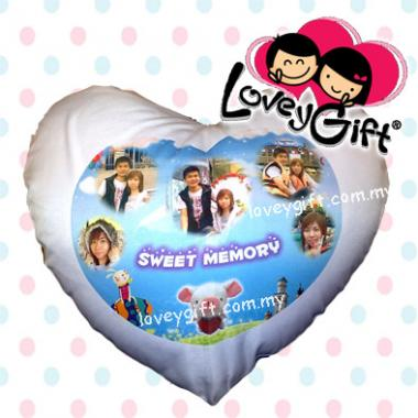 Photo Cushion - Love Shape(Blue)