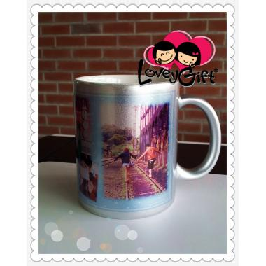 Personalized Photo Silver Mug