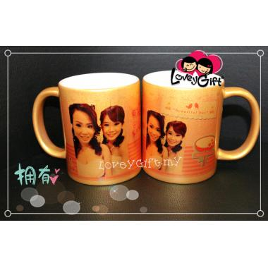 Personalized Photo Gold Mug