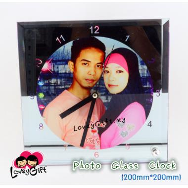 Photo Glass CLOCK (20cm*20cm)