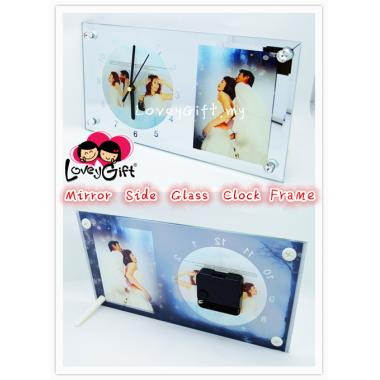Mirror Side Glass Clock Frame (23cm*15cm)