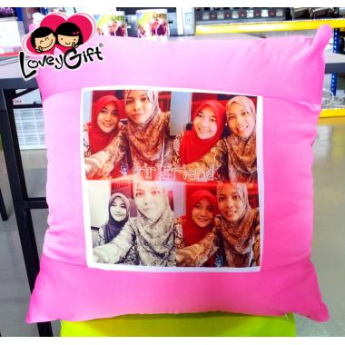 Photo Cushion - Rose Pink