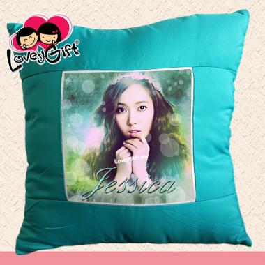 Photo Cushion - Aqua Green